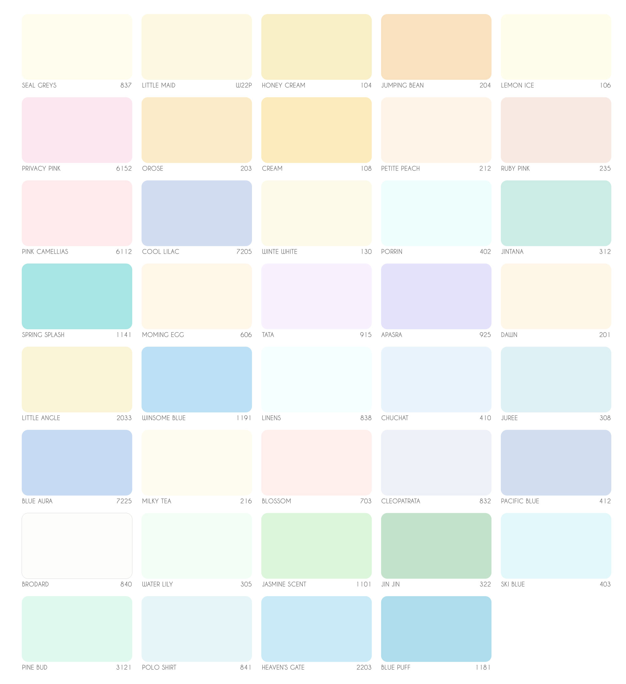 bảng màu sơn nội thất Expo