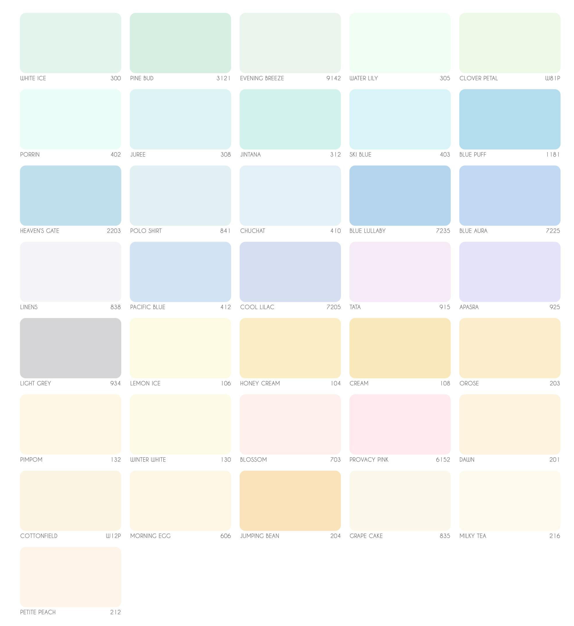 bảng màu sơn nội thất Epoxy