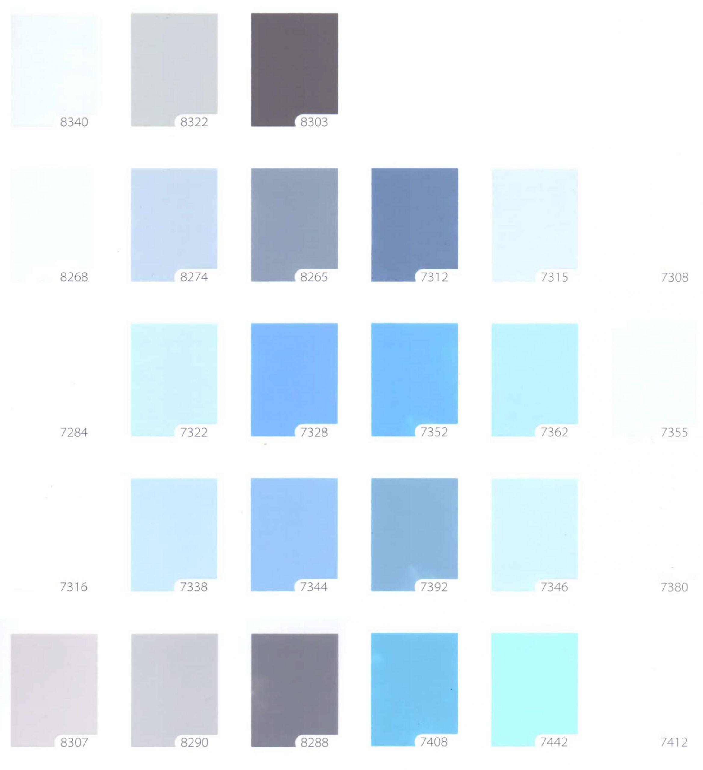 bảng màu sơn TOA