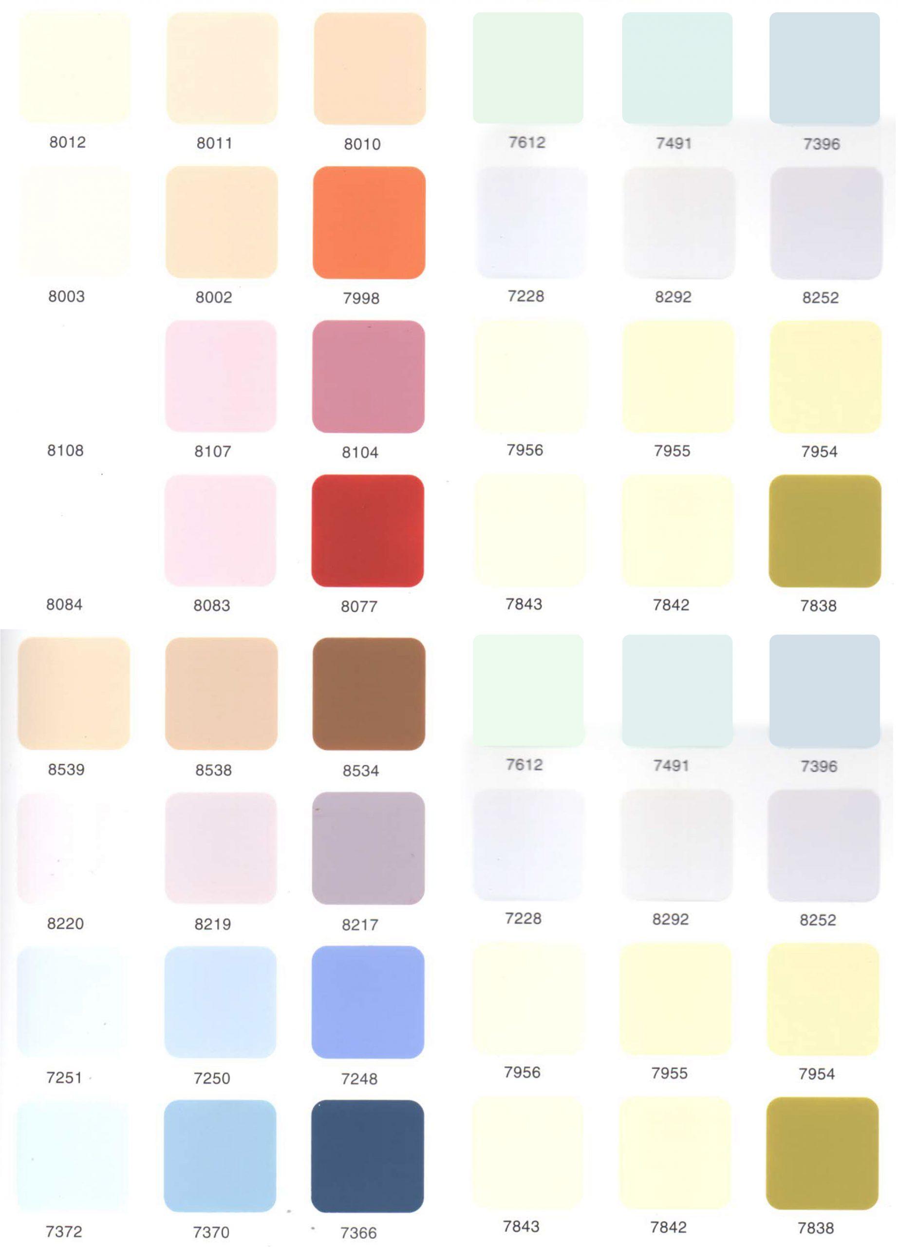 bảng màu sơn Toa Nano Shiel